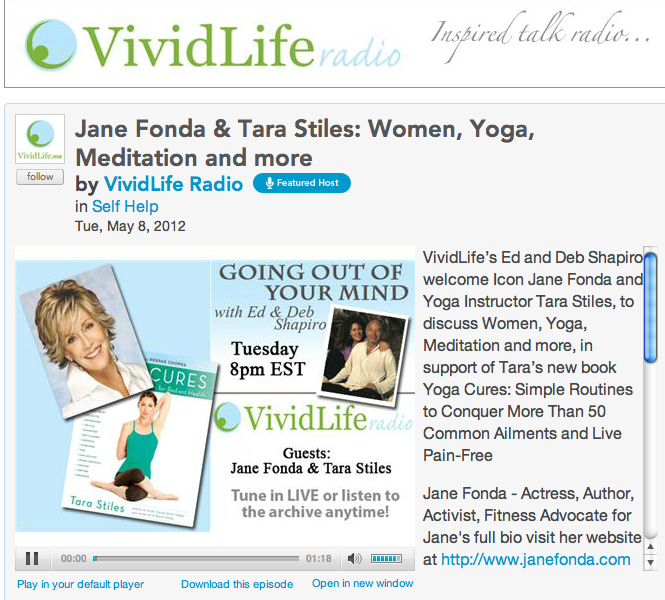 On the Radio with Jane Fonda.