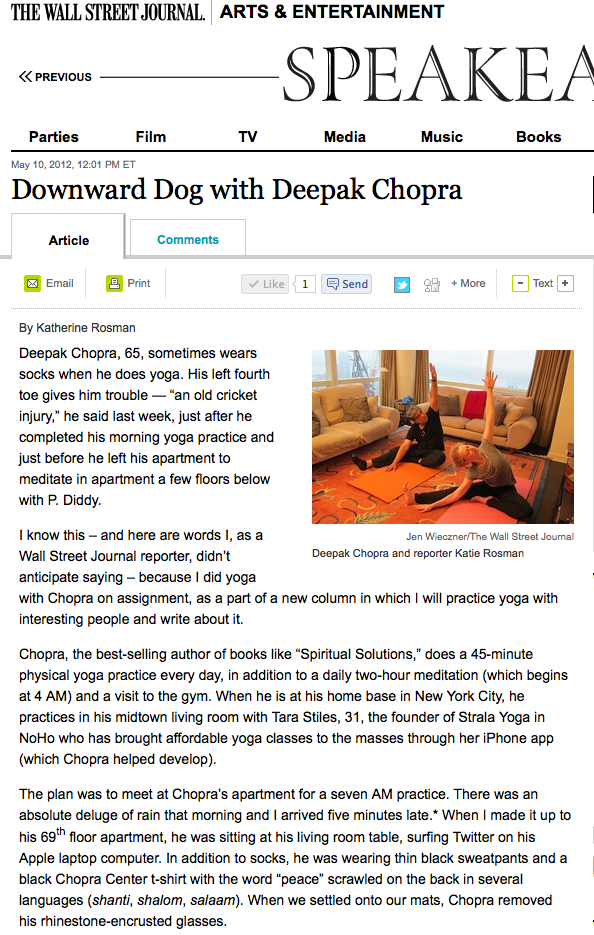 Down Dog with Deepak Chopra