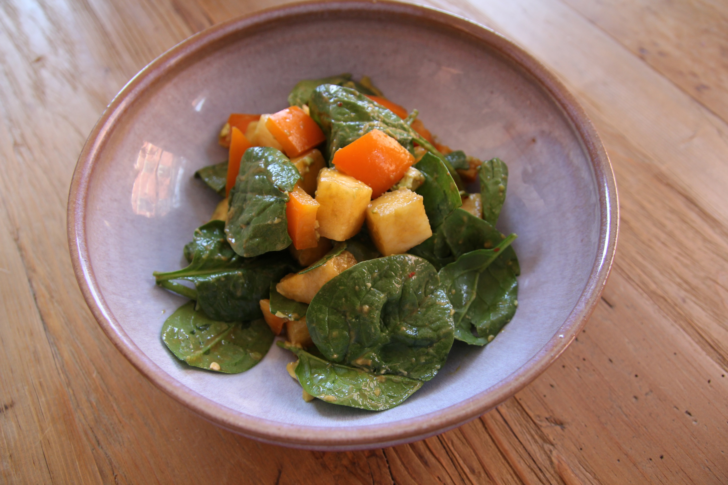 Sweet & Savory Spinach Salad