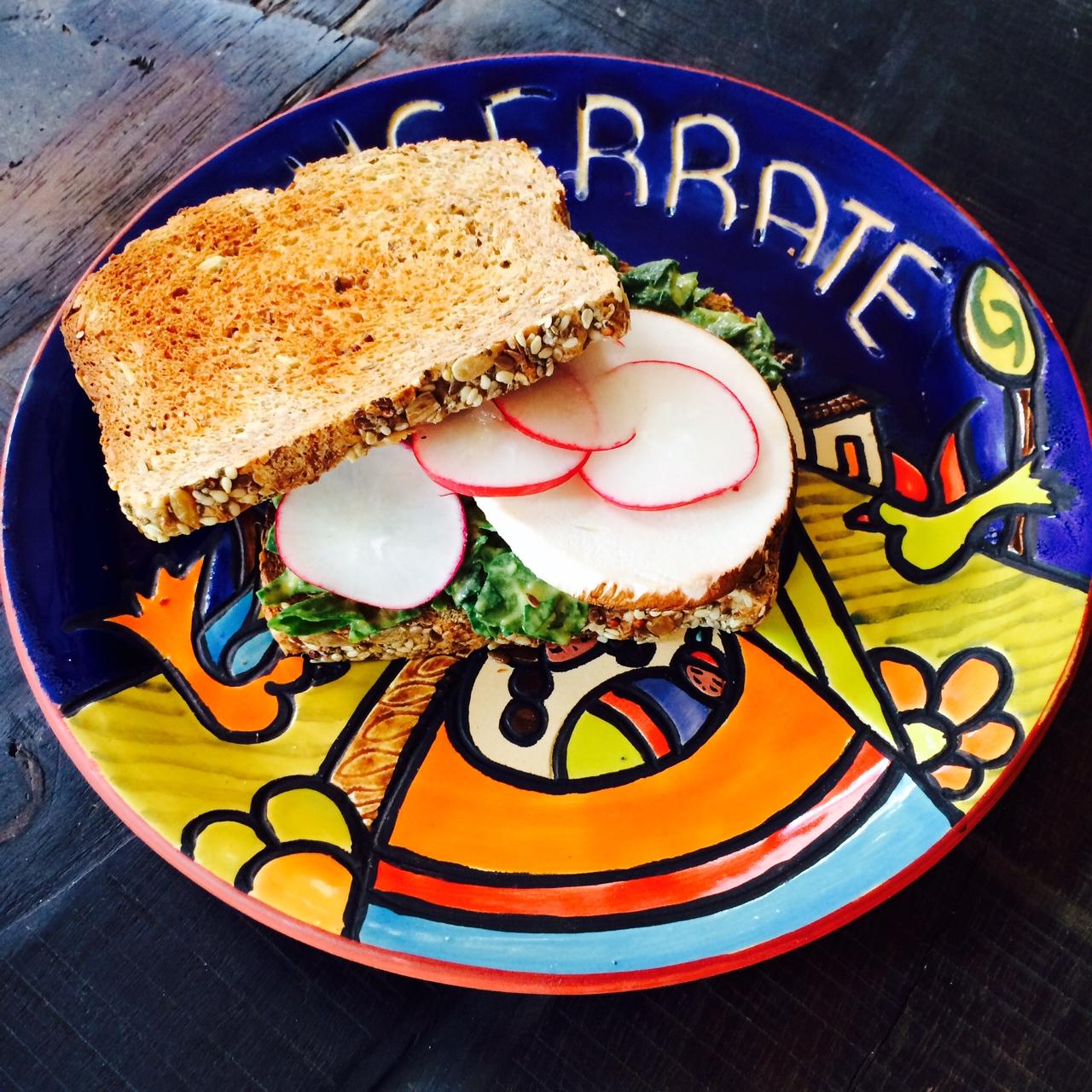 Creamy Spinach Salad Sandwich